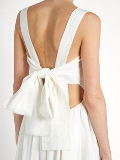 Tie-back linen dress | Chloé | MATCHESFASHION.COM