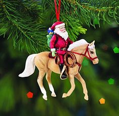 Modest Custom Made Safari Palomino Mustang Mare Christmas Holiday Ornament Candy Cane Cycling
