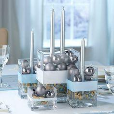 Hola a todos,   aquí os dejo un montón deideas para decorar el centro de mesa para la cena de Navidad,   todos los podeis hacer con cosita...