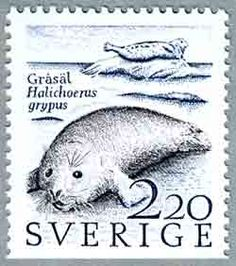 Gray Seal stamp from Sweden