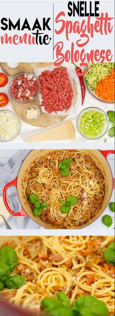 Spaghetti Bolognese, Food And Drinks, Snelle spaghetti Bolognese sauce Spaghetti Bolognese, Bologna, Allrecipes, Food Inspiration, Dinner Recipes, Food And Drink, Risotto, Ethnic Recipes, Kitchen