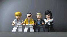 I leggendari Queen in versione Lego: John Deacon, Freddie Mercury, Roger Taylor e Brian May. http://www.rockandlol.com/immagini/lego-queen/