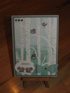 Stampin Up, Woodland Textured Embossing folder, der wald ruft und bow builder punch, in color 2015-2017