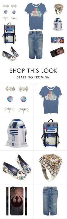 """The Force Is Strong"" by veryhungrycaterpillar ❤ liked on Polyvore featuring Junk Food Clothing, ThinkGeek, R2, Irregular Choice, NOVICA and Current/Elliott"