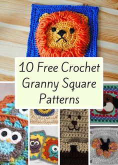 10 Free Crochet Granny Square Patterns                                                                                                                                                                                 More