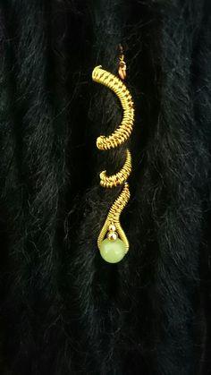 Lemon and Lime wire woven dreadlock cuff. by ZAYUNU on Etsy