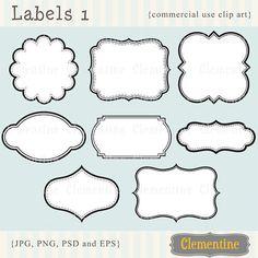 Immagini ClipArt etichette stampabili scrapbook clipart