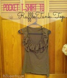 A creative way to cover holes or pockets in a tshirt #refashion!