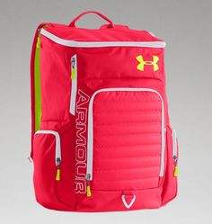 I want an under armor bag! And this one is super cute! Under Armour Backpack, Nike Under Armour, Puppy Backpack, Hiking Backpack, Diaper Bag, Under Armour Outfits, Nike Quotes, Nike Design, Orange Bag