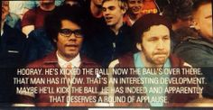 How I feel as an American working for An European Company during the World Cup. God I miss this Show!  The IT Crowd.
