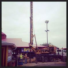 New ride construction Grand Prairie, Utility Pole, Construction, Building