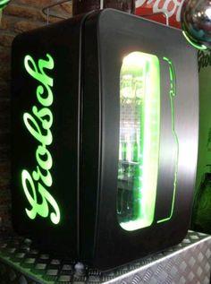 Grolsch koelkast bier fridge schuur mancave