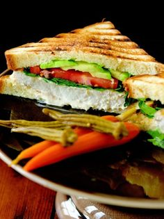 Grilled Swordfish Club from the Bar Americain Cookbook by Bobby Flay Seafood Dishes, Seafood Recipes, Cooking Recipes, Healthy Recipes, Grilled Swordfish, Swordfish Recipes, Mayonnaise Recipe, Wrap Sandwiches, Gastronomia