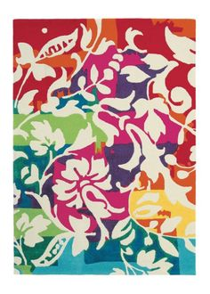 Brink and Campman Orchid Rug This hand-tufted rug will bring a splash of colour to any living room. A contemporary twist on fl. Contemporary Rugs, Modern Rugs, Hand Tufted Rugs, Cool Rugs, Rugs Online, Rugs In Living Room, Outdoor Rugs, Rugs On Carpet, Color Splash