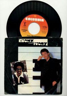 "PAUL MCCARTNEY- EBONY AND IVORY- 7"" 45RPM  http://www.ebay.com/itm/PAUL-McCARTNEY-EBONY-AND-IVORY-7-45-RPM-VINYL-SINGLE-1982-COLUMBIA-18-02860-/192114626125  #paulmccartney. #steviewonder #ebonyandivory #45rpm #vinylcommunity #vinylmornings #vinyloftheday #musicheals #sleeves #eighties"