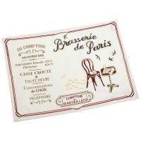 2 sets de table BRASSERIE DE PARIS Comptoir de Famille