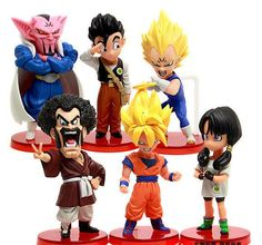 Super Deformed Dragon Ball Z Dabura Son Gohan Videl Action Figure figures toys set of 6