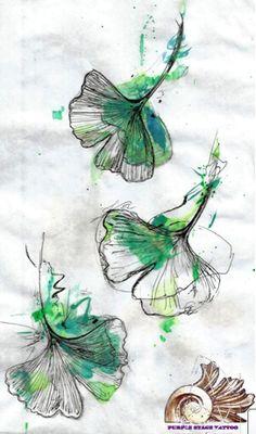 Bocetos Realizados por Orlando Gonçalves del tatuaje que me hice, se trata de la hoja del árbol que mas me gusta el Ginkgo. https://www.facebook.com/orlando.goncalves.106