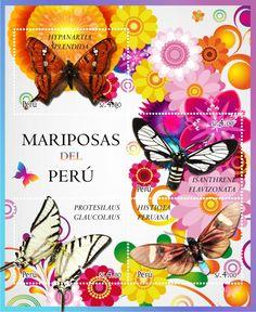 #Mariposas del Perú - #butterflies #Filatelia #Philately