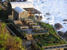 Massage deck at Esalen hot springs
