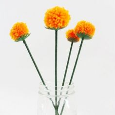 Create this cheery Anthro-inpired bouquet of pom pom dandelions for 90% less than the original price!