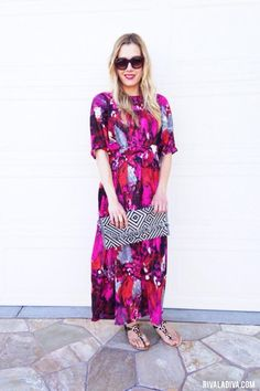Create an easy breezy dress straight off the runway with this bright and bold…