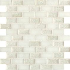 Daltile Aura 1 x 2 Brick Joint Mosaic Silver Cloud Floor Design, Ceiling Design, Mosaic Wall Tiles, Backsplash Tile, House Tiles, Nebraska Furniture Mart, Floor Ceiling, Tile Floor, Stone Mosaic