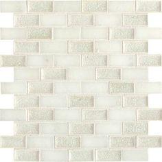 Check out this Daltile product: Aura Silver Cloud 1 x 2 Brick-Joint AU30