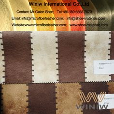 Best Quality PU Faux Leather for Sofa Upholstery