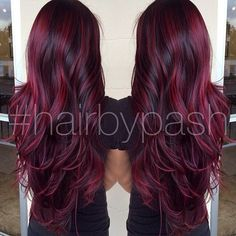 Red/Purple hair