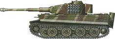 Tiger H/E camouflage patterns - Germany November 1944 PzAbt301(Fkl)