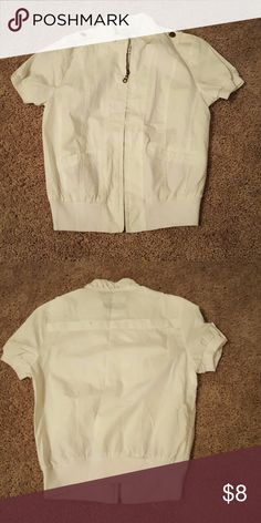 White cover up Wet Seal size small white cover up Wet Seal Jackets & Coats