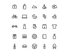 "Check out new work on my @Behance portfolio: ""Category Icons 