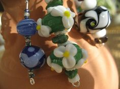 Bookmarks with lamp work beads