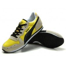 Puma Usain Bolt Cream Black Yellow Men Running Shoes