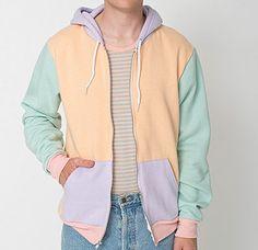 pastel color block American Apparel Hoodie
