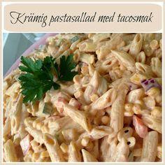 Linda´s Goda: Krämig pastasallad med tacosmak Good Food, Yummy Food, Recipe For Mom, Everyday Food, Former, Summer Recipes, Vegetarian Recipes, Foodies, Food Porn