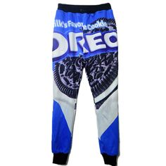 2016 Funny Classic Oreo Cookies Print Fitness Women Men Joggers Lovers Sweatpants Hip Hop Harajuku High-Elastic Panties Trousers