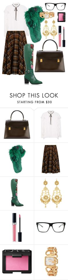 """""""Mandatory fur scarf"""" by norathelemon ❤ liked on Polyvore featuring Hermès, Gucci, Lilly e Violetta, Maison Margiela, Jose & Maria Barrera, Christian Dior and NARS Cosmetics"""