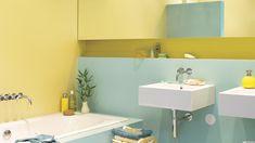 jolies couleurs pour cette salle de bain