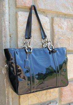 Coach bag--blue hue wonderland