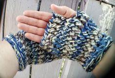 Blue Camo Stripe Crochet Fingerless Gloves for Carpal Tunnel Crochet Gloves for Women Gloves for Men Gloves for Texting Ready to Ship by strawberrycouture by #strawberrycouture on #Etsy