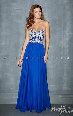 Shop 2014 Fascinating Sweetheart A Line Floor Length Chiffon Prom Dresses With Applique Online affordable for each occasion. Latest design party dresses and gowns on sale for fashion women and girls. Royal Blue Prom Dresses, Grad Dresses, Ball Dresses, Homecoming Dresses, Evening Dresses, Bridesmaid Dresses, Prom Dress 2014, Strapless Dress Formal, Formal Dresses