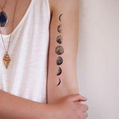 Small Moon Tattoos Designs