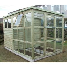 greenhouse from a shed | Pent Greenhouse / Potting Shed Combo