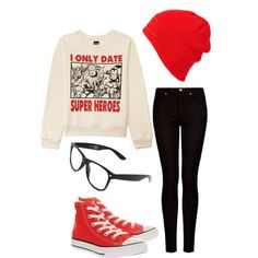 Marvel hipster/scene outfit by lizzyloveshk19 on Polyvore featuring Forever 21, MANGO, Converse and Quiksilver