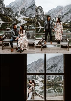 Lago Di Braies Surprise Proposal - Fall engagement shoot at Lago di Braies. Photos by Wild Connections Photography. Romantic Surprise, Surprise Proposal, Most Romantic, Romantic Ideas, Fall Engagement Shoots, Engagement Photos, Adult Scavenger Hunt, At Home Dates, Young Women Activities