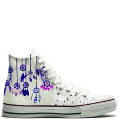 converse, dreamcatcher, and shoes image Converse All Star, Cool Converse, Outfits With Converse, Converse Sneakers, Custom Converse, Converse High, Cute Shoes, Me Too Shoes, Jouer Au Basket