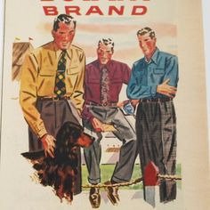 1948 botany brand shirts and slacks vintage magazine ad. $6.95, via Etsy.