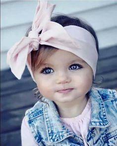 Baby girl tie headband